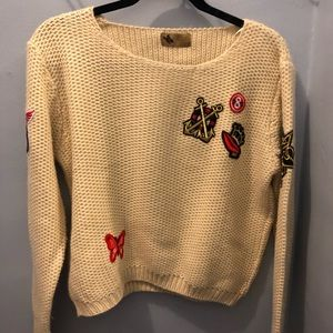 Patches sweater